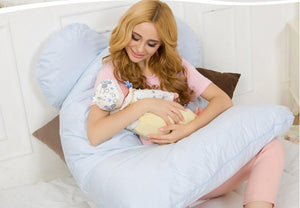 Multifuctional U Shaped Body Pillow for Nursery, Breast Feeding, Comfortable Sleep especially for Pregnants