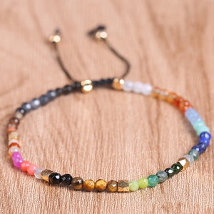 12 Constellation Lucky Stone Beads Adjustable Bracelet