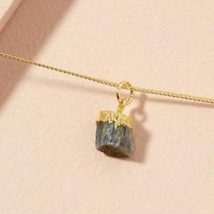 Sapphire pendant on gold chain - SEPTEMBER