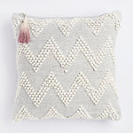 Projektityyny Handmade ethical Aalto cushion light grey with vegan insert