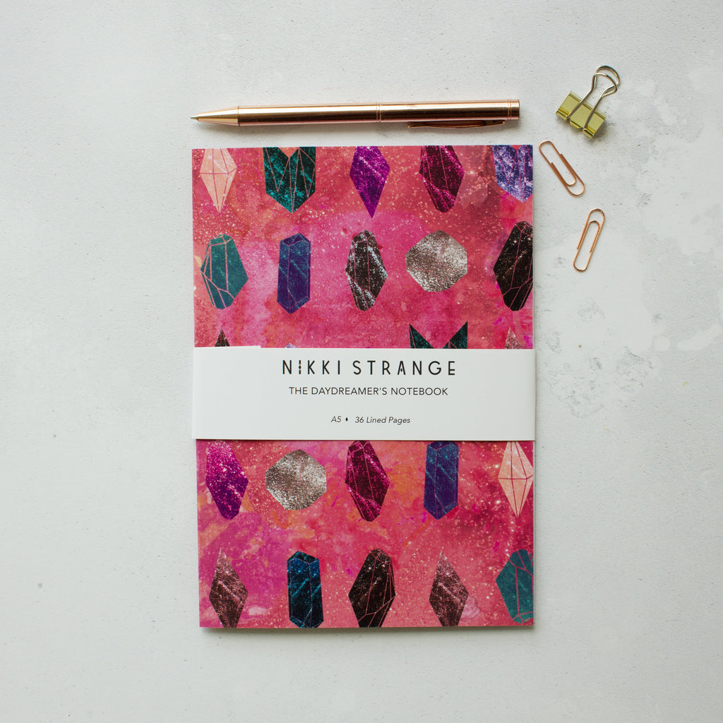 NIKKI STRANGE CRYSTAL RECYCLED NOTEBOOK