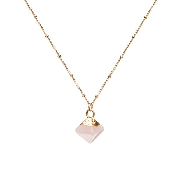 Mini Pyramid Pendant - Rose Quartz (Love & Friendship)