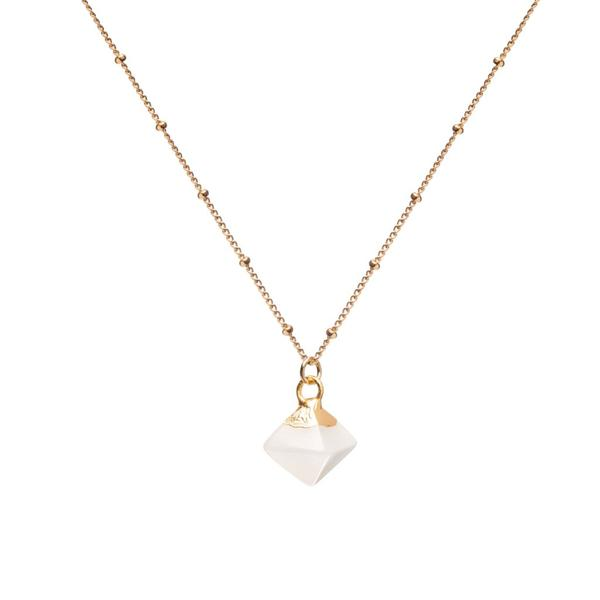 Mini Pyramid Pendant - White Jade (Luck)