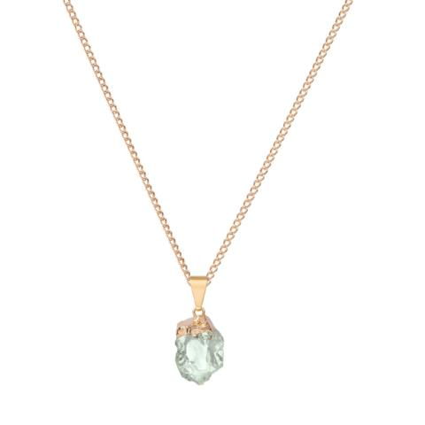 Glacier Gemstone Necklace in Green Amethyst