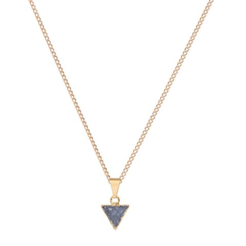 Surface Triangle Drusy Necklace - Dark Grey