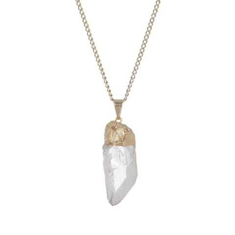 Glacier Raw Point Quartz Necklace