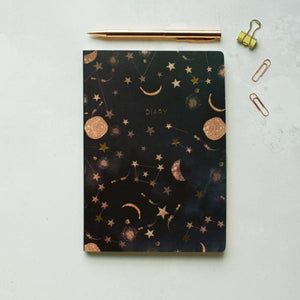 Sustainable 2018 diary with constellations design A5