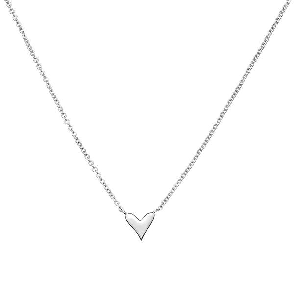 Ethical, sterling silver heart necklace