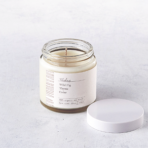 Tides - Luxury Coconut Wax Candle open jar