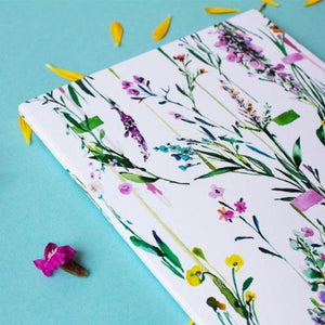 Fleur Botanique notebook showing spined edge