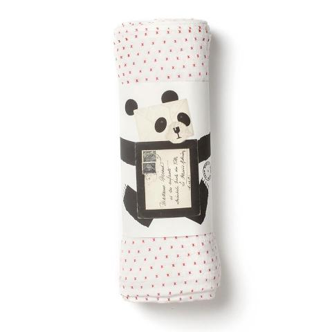 Red Kisses Muslin Swaddle