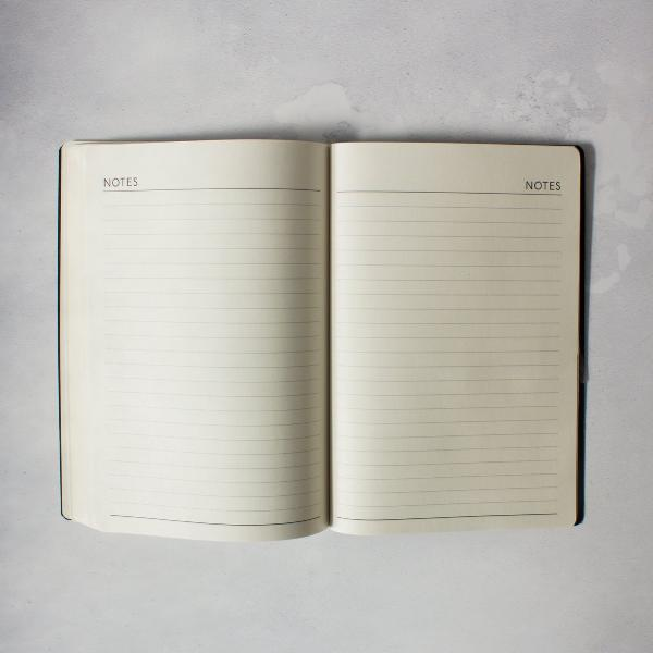 Inside pages of 2019 diary showing layout and details included