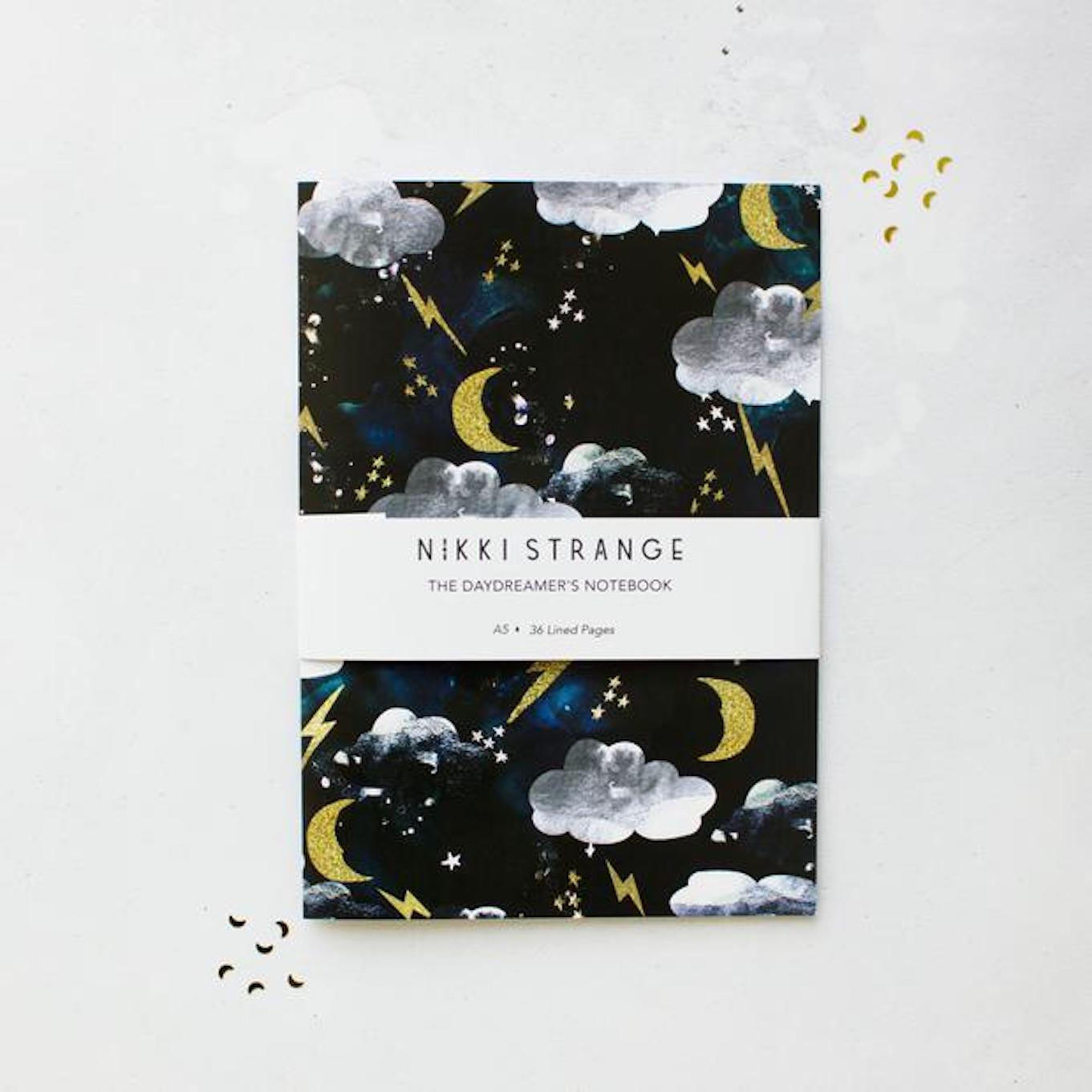 NIKKI STRANGE COSMIC LIGHTNING RECYCLED NOTEBOOK