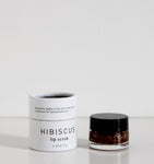 The Good Hippie Vegan, cruelty free and natural hibiscus lip scrub in small glass jar