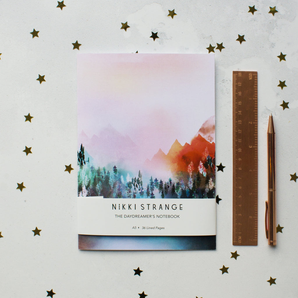 NIKKI STRANGE MYSTIC MOUNTAIN RECYCLED NOTEBOOK