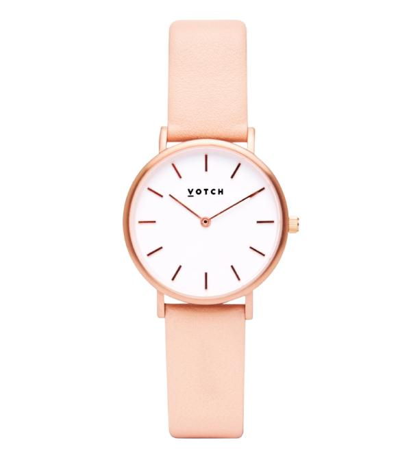 Votch Vegan Leather Watch - Pink and Rose Gold
