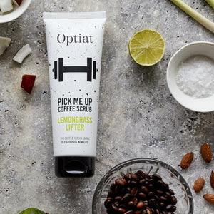 Pick Me Up - Lemongrass Coffee Body Scrub lifestyle shot