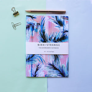 NIKKI STRANGE Sustainable RECYCLED notebook with pink tropicana design