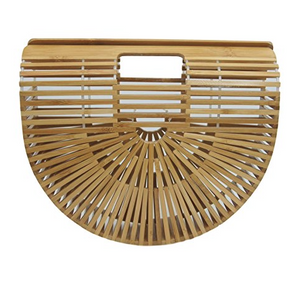 Bamboo Half Moon Clutch Bag