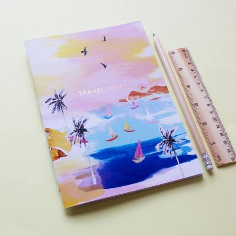 Sorbet Beach travel notes notebook