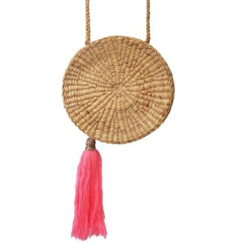 Tropical spirit bag with coral tassel