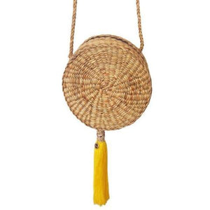 Tropical spirit bag with yellow tassel
