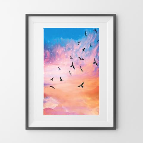 Celestial Flight Art Print