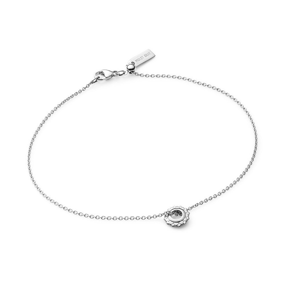 Ethical, sterling silver crown chakra bracelet