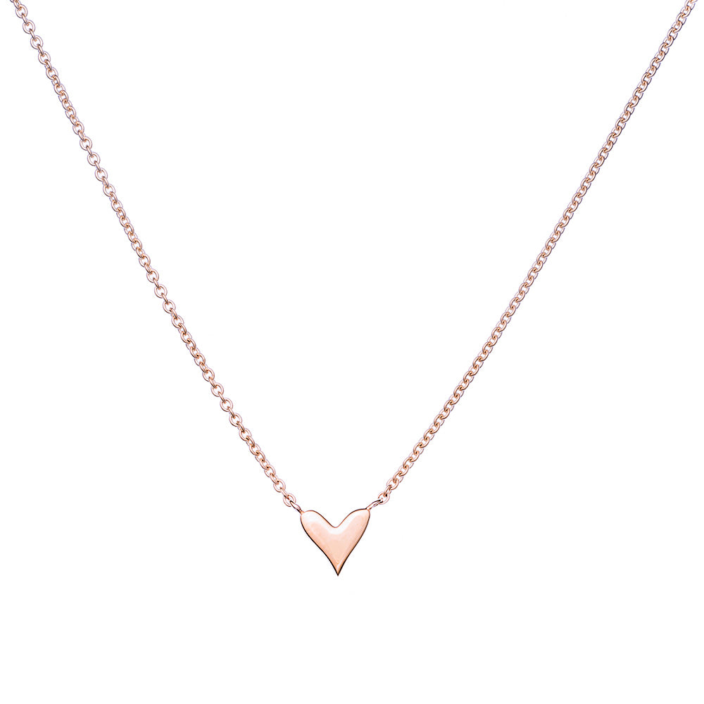 Rose Gold Heart necklace Violet Gray