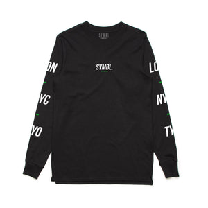 Global Policy Long Sleeve Tee Black