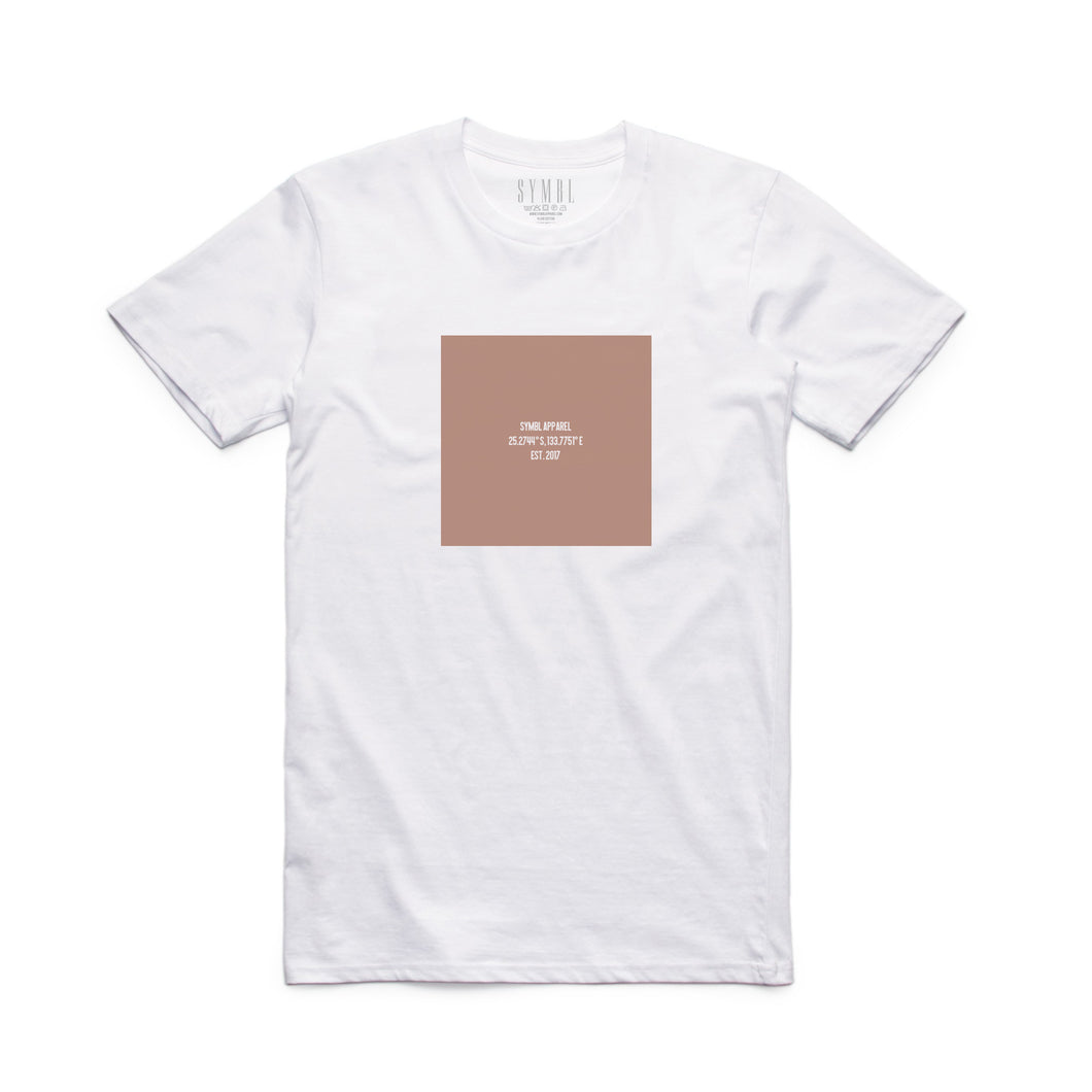 Washed Location Box Tee White