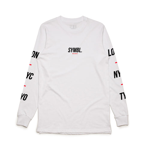 Global Policy Long Sleeve Tee White