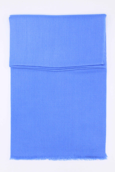 100% Cashmere Light Blue Pashmina Shawl/Scarf
