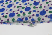 100% Cashmere Bubbles Of Blue, Green & Purple Pashmina Shawl/Scarf