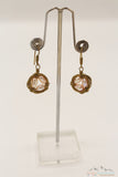 NEST FULL OF EGGS WIRE ART PEARLS DANGLE EARRING