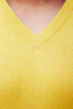 Men's Yellow Cashmere V-Neck Sweater