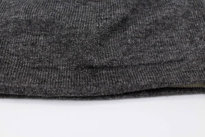 Double Sided White And Dark Gray Unisex 100% Cashmere Cap