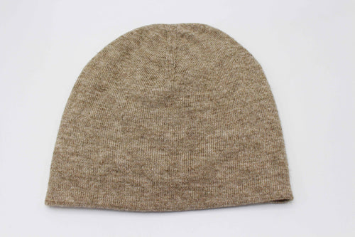 Double Sided Blurrywood  Brown And Gray 100% Cashmere Cap/Beanie