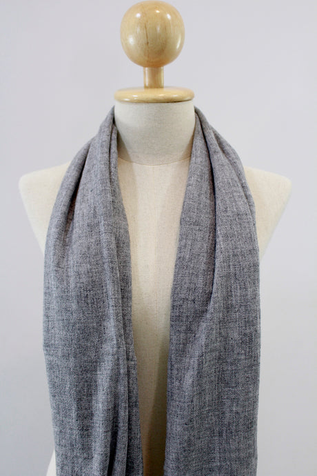 100% Cashmere Medium Grainy Gray Pashmina Shawl/Scarf