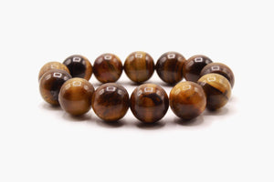 Tiger Eye Stone 16 mm Beads Bracelet