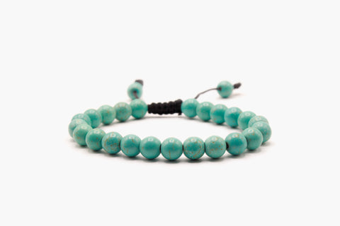 Light Tone Turquoise Stone Beads Bracelet