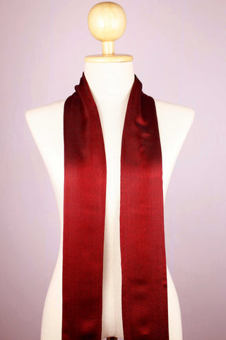 Blood Red Pure Silk Scarf
