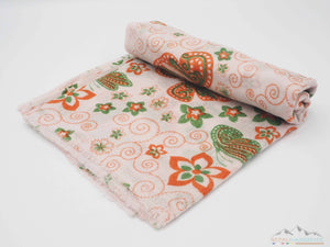 100% Cashmere Floral Pashmina Shawl/Scarf