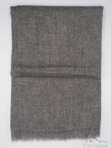 100% Cashmere Dark Grainy Gray Pashmina Shawl/Scarf/Stole/Wrap (FREE SHIPPING WORLDWIDE)