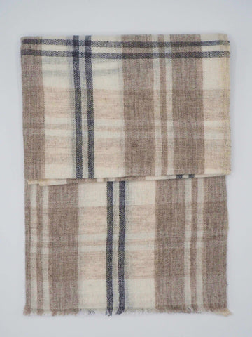 Brown & Black Lined Pashmina Scarf