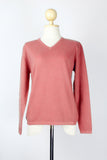 Peach V-Neck Women's Cashmere Pullover/Sweater