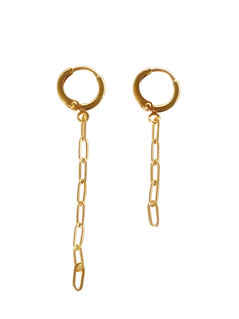 """A-symatric Chain Earrings"" (also available as Single Piece)"