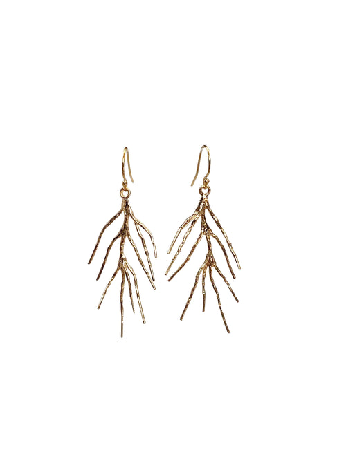 earrings goldplated branch oorbellen sieraden jewelry goud