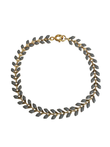 Gold plated chain bracelet with gold-filled lock