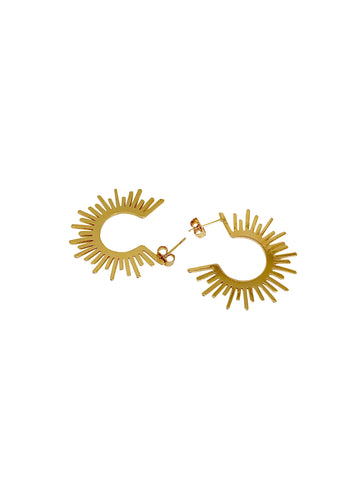 """Follow the sun"" gold-filled studs gold-filled sun"
